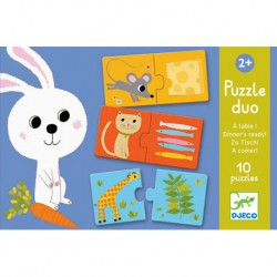 Puzzles duo : à table !