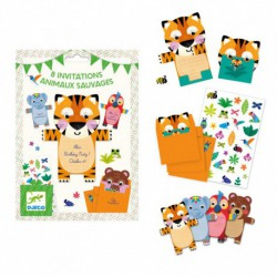 Cartes d'invitation : animaux