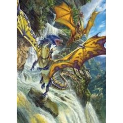 PUZZLES - 1000 PIECES - Waterfall Dragon